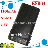 DHL freeshipping 5pcs/lot NI-MH 1300MAH two way radio battery KNB 14 KNB14 for Radios TK-2107 TK-3107