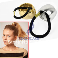 New Fashion Women's Girl's Metal Hair Elastic Rubber Rope Band 2 Colors 7168