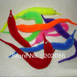Factory Wholesale Magic worm New hotsale twisty worm Novelty toy mixed colors 6pcs/lot fast delivery free shipping(China (Mainland))