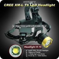 1PC High Power Headlamp 18650 Rechargeable Headlight 1200 Lumens CREE XML T6 LED Headlamp