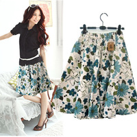 Free ship,lady/women half-length short  bohemia t bust skirt linen women's medium skirt