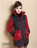 Free shipping 2013 the new trend of fashion cotton-padded clothes cotton-padded jacket coat have large size