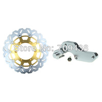 Oversize 320mm Front Brake Disc Rotor & Adaptor For YAMAHA YZ F 250 01-06 400 98-00 426 00-02 450 03-07 WR F 400 98-00 450 03-12