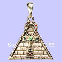 free shipping hottest last 5pcs alloy Gold ankh pyramid pendant new design jewelry