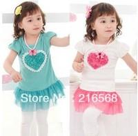 wholesale children's skirt tutu baby girl dress kids wear flower Princess T-shirt kids clothing Children free shipping J071