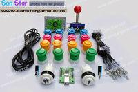 DIY Arcade Parts Bundles Kit With Joystick,Pushbutton,Microswitch,2 Player USB To Jamma Arcade Control Board