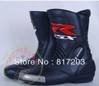 SUZUKI GSXR Motorcycle Motorbike Motocross Cycling Racing Suzuki GSXR Leather Boots size:40-45