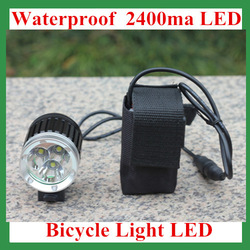 3pcs/lots Free shipping CREE XM-L T6 bike light1200 Lumens 3 Mode Waterproof led Bicycle Light LED HeadLamp 8.4v Battery Pack(China (Mainland))