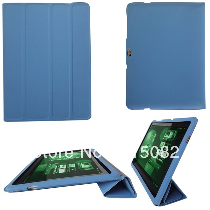 4 Folding Case for Galaxy Tab P7500 P7510 Ultra Slim Case for Galaxy Tab2 10.1 P5100-Free Shipping(China (Mainland))