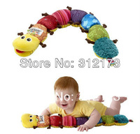 FREE SHIPPING-sale baby Music caterpillar toys infant soft ring for toys 1pcs