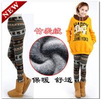 free shipping fathion adjustable warm coffee fawn maternity leggings/soft pregant woman winter pants/ abdominal trousers