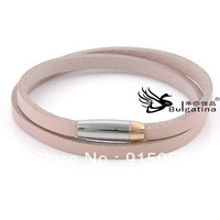 Newest Genuine Leather Braclets Korean Style Double Wrap Belt Bracelet Wholesale In Bulk Free Shipping