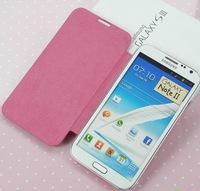 10pcs/lot Freeshipping back cover flip leather case battery housing case For samsung galaxy note2 N7100