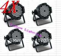 4pcs  free shipping to Ukrain/Russia 54pcs*3w rgbw indoor use par light dmx512 led stage lighting par can die-cast aluminium