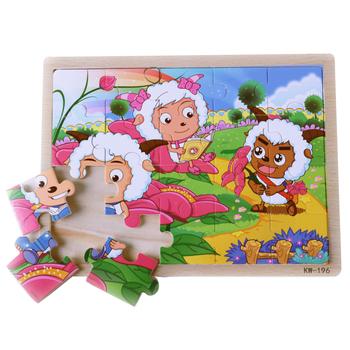 wooden child puzzle paper 3d puzzle preschool educational toys