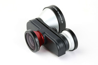 Rotatin 4in1 front and back Fisheye Len+ Macro+ 5x Super Telephoto Lens lens Set for Apple iPhone 5 5G
