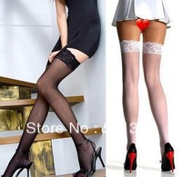 FREE SHIPPING lace decoration slip-resistant silica gel sexy slim women stockings
