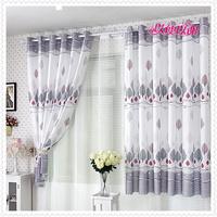 Luxury lace curtain purple .1 piece is 1 m. Drape 4 m + gauze shade 4 m/set