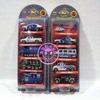 Toys alloy car model toy 4 slitless police car compounding filling set