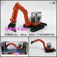 Gift box set toy car composition of alloy engineering car excavator mining machine