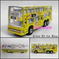 Good artificial car model toy alloy car model WARRIOR double layer bus