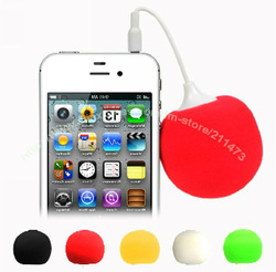 2013 Hot sale!!Stylish Mini Ball Pattern 3.5mm Sweet Speaker Music Ballon Speaker for iPhone PC MP3 portable Free Shipping(China (Mainland))