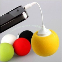 2013 Hot sale!!Stylish Mini Ball Pattern 3.5mm Speaker Music Ballon Speaker for iPhone PC MP3 portable Free Shipping,10pcs/lot