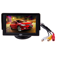 "4.3"" TFT LCD Car Reverse color Rear View Monitor for night vision backup camera"