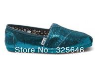 Free Shipping Emerald  Women's Glitters canvas classics shoes