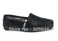Free Shipping Black  Women's Glitters canvas classics shoes