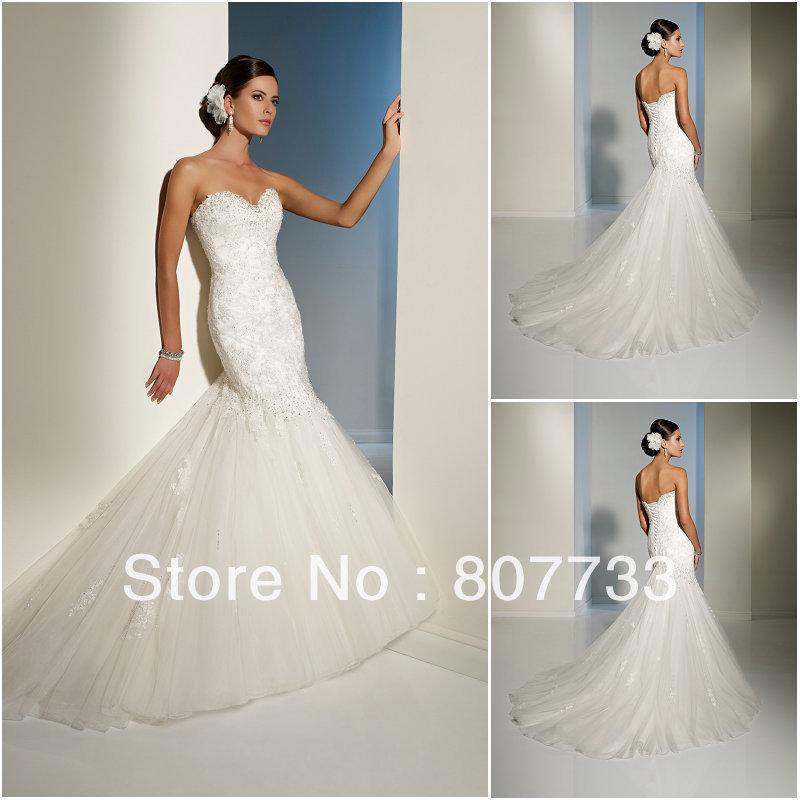 Diamond Fishtail Wedding Dresses : Aliexpress buy free shipping cost real sample