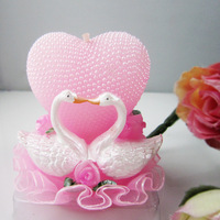 Romantic wedding candle heart pink candle birthday candle
