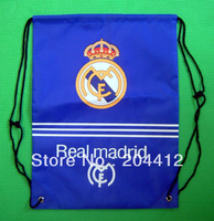 REAL MADRID SOCCER KITBAG BACKPACK DRAWSTRING BAG blue