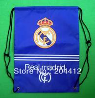 REAL MADRID SOCCER KITBAG BACKPACK DRAWSTRING BAG blue