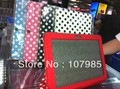 Wave Point pattern Magnetic PU leather case for Samsung Galaxy Tab 2 10.1 P5100/P5110 Polka dot PU cover,free shipping