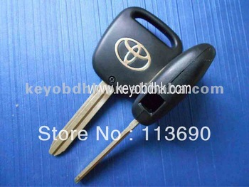 Toyota remote key shell with 1 hole on side&toyota 1 buttons remote key shell&car key shell