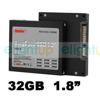 "KingSpec 32GB 1.8"" SSD Solid State Drive Hard Drive SATA SLC Flash Disk EDS1A"