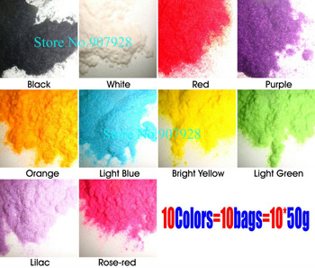 50g/bag x 10Colors 3D New Nail Art Flocking Velvet Powder Villus Powder-Free Shipping Wholesale