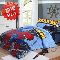 Free Shipping Bedding 288f cartoon coral fleece piece set child duvet cover thermal
