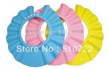 Free Shipping 5PCS/LOT Adjustable Baby Kid Safety Soft Shampoo Bath Shower Cap Hat