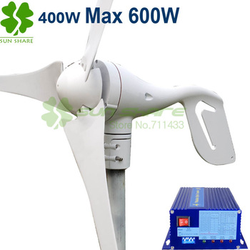 Free shipping small wind turbine max power 600w +700w wind solar hybrid controller(400w wind generator +300w solar panel)