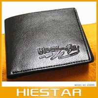 Free Shipping Men's Cow Leather Wallet Purse Men's Passport Wallet Black