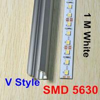 Big Discount ! 50M/Lot, DC12V 72 LED/M Non Waterproof SMD 5630 Led Rigid Strip Bar Lights with V Style Aluminum Slot
