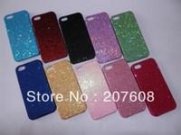 40pcs/lot Latest Shimmering Powder Bling Shiney Plastic Hard Case For Iphone 5 5G