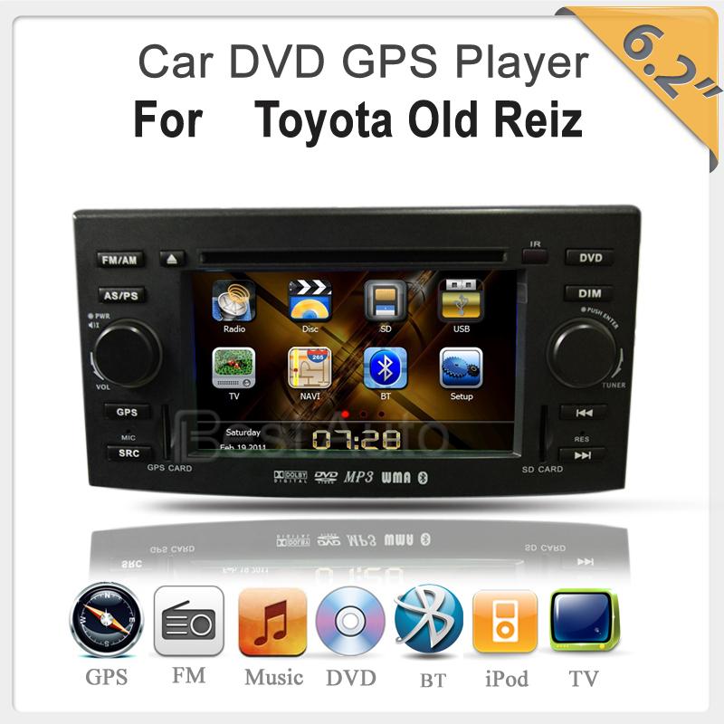 "car dvd cd gps For Toyota Reiz/Toyota Mark Steering Wheel Control TV MP3 MP4 6.2"" Digital Touchscreen(China (Mainland))"