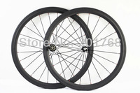 23mm wider 700C 44mm clincher carbon fiber road racing bicycle/bike wheel set