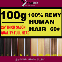 Free Shipping weave hair extension virgin brazilian full head available-Best Price 26 inch 100g #60 platinum blonde