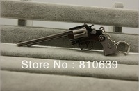 """4.5"""" Big Cross Fire Revolver Handgun Pistol Keychain Keys Ring Backpack  Accessory Ornaments Gift For Army Fans"""