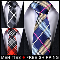 Men Ties Brand New Lattice Chequer Neckties Classic Man tie 5cm Wide 5pcs/lot Mix Order , 8 Styles available,  Free shipping