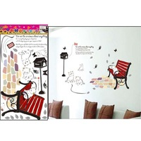 Free Shipping TC1051,100PCS order the freehand cat of the park life/living room TV wall bedroom children's room wall stickers